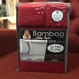 Bamboo Sheets 6 pc set Dark Red NWT